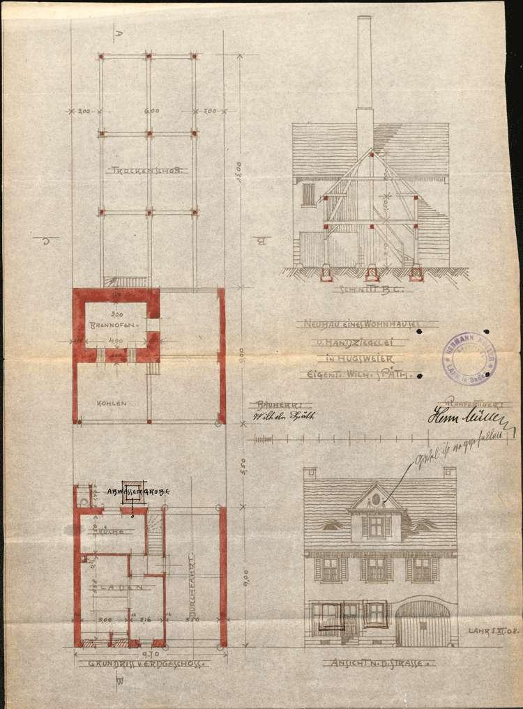 Gesuch des Wilhelm Späth in Hugsweier um Erlaubnis zur Errichtung und zum Betrieb einer Handziegelei, Bild 2