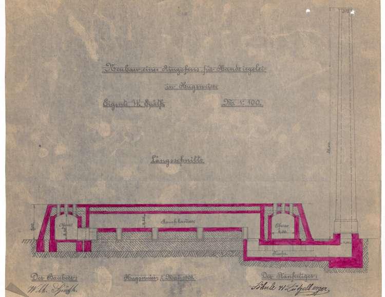 Gesuch des Wilhelm Späth in Hugsweier um Genehmigung zum Bau eines Ringofens für seine Feldbacksteinbrennerei, Bild 3