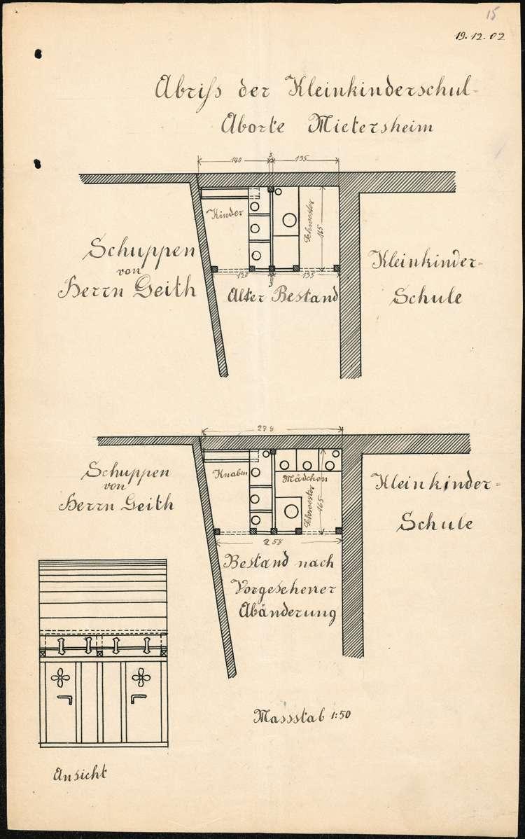 Bau und Unterhaltung der Kleinkinderschule in Mietersheim, Bild 1