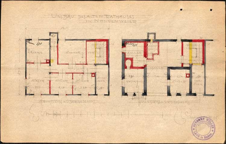 Umbau des alten Rathauses in Nonnenweier zu einer Mietwohnung, Bild 2