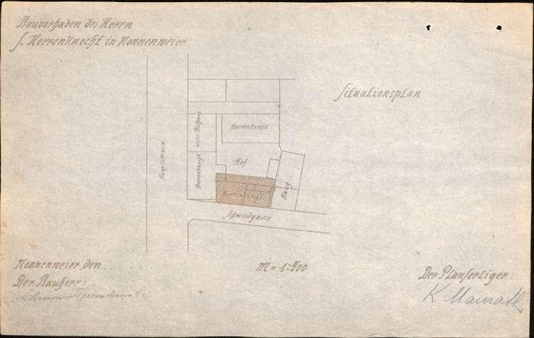 Errichtung und Betrieb der Zigarrenfabrik von Salomon Herrenknecht in Nonnenweier, Bild 1