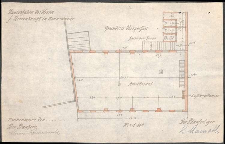 Errichtung und Betrieb der Zigarrenfabrik von Salomon Herrenknecht in Nonnenweier, Bild 3