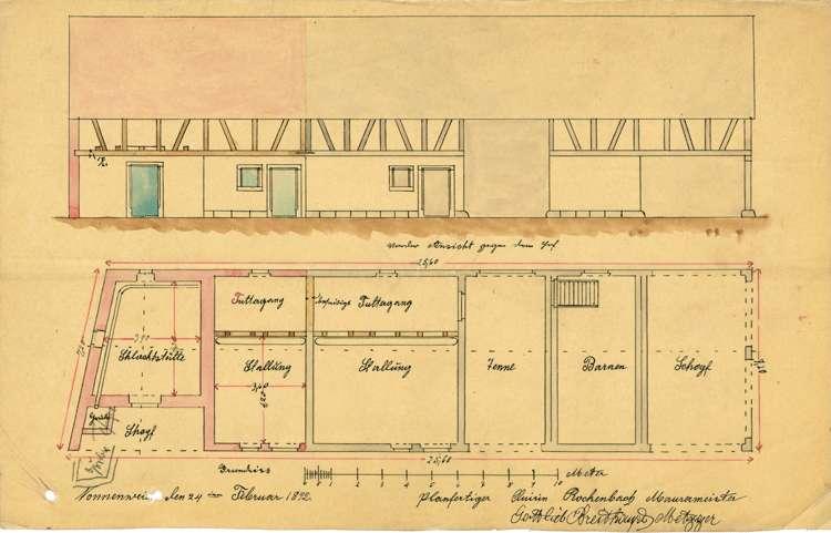 Errichtung einer Schlachtstätte durch den Metzger Gottlieb Breithaupt iin Nonnenweier, Bild 2