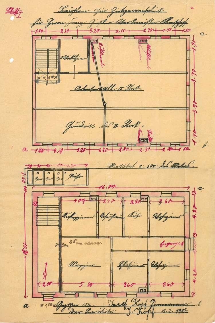 Errichtung und Betrieb der Zigarrenfabrik des Franz Gissler, Eigentümer Franz Geiger, in Oberschopfheim, Bild 2