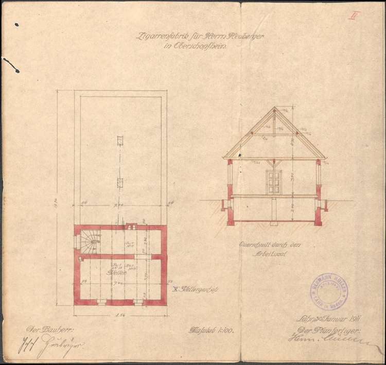 Errichtung und Betrieb der Zigarrenfabrik des Josef Heuberger in Oberschopfheim, Bild 3