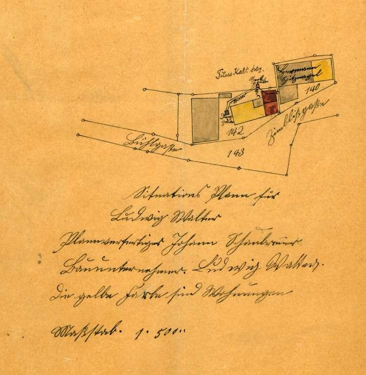 Errichtung einer Schlachterei durch Ludwig Walter sowie deren regelmäßige Überprüfung, Bild 1