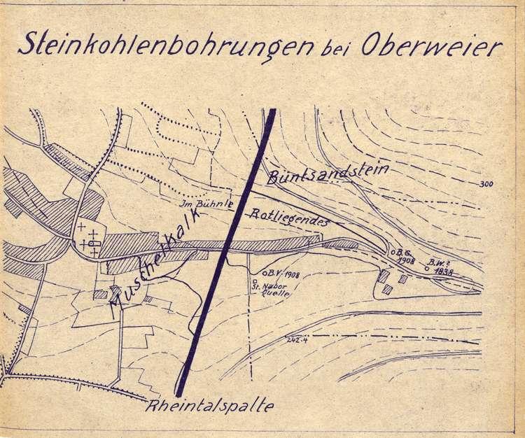 """Vornahme von Bohrungen nach Kohle auf Gemarkung Oberweier duch die Gewerkschaft """"Gute Hoffnung"""" von Niederbruck, Bild 3"""