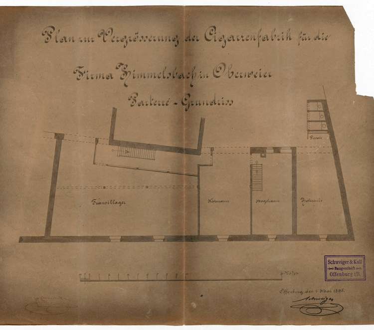 Errichtung und Betrieb der Zigarrenfabrik Himmelsbach in Oberweier, Bild 1