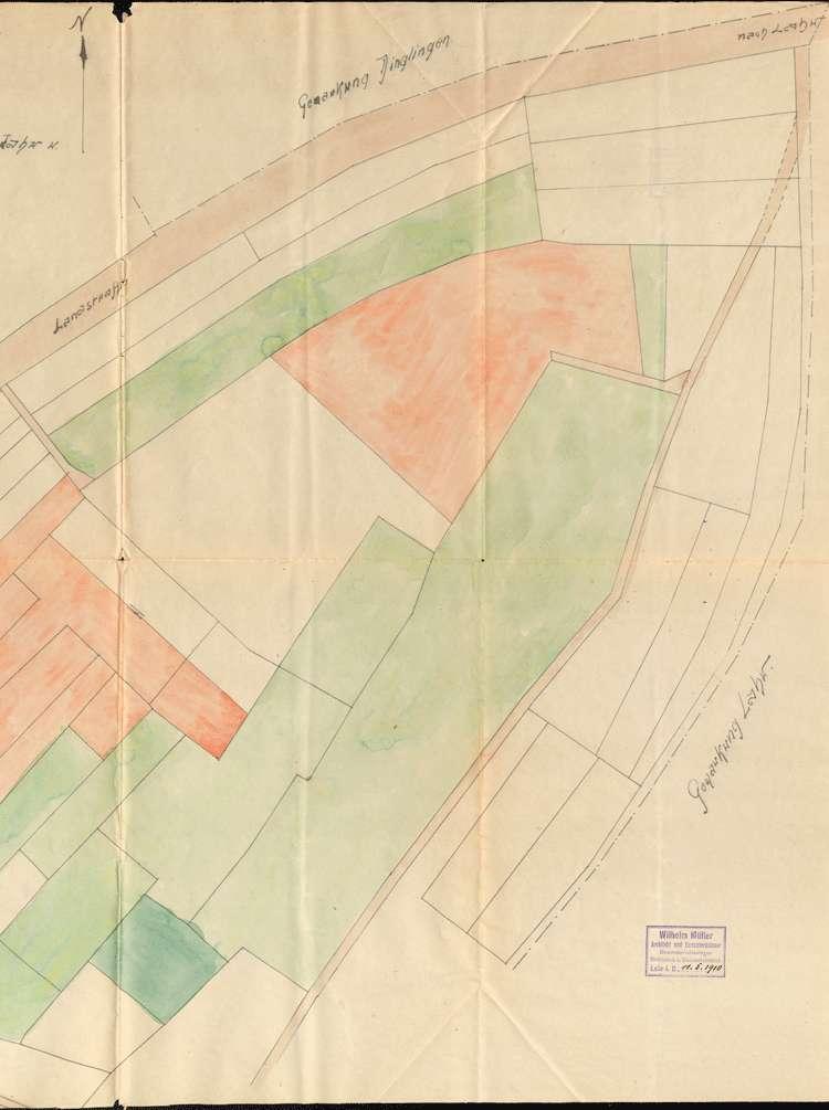 Aufsicht über den Betrieb der Sandgrube der Witwe des Wilhelm Müller aus Lahr auf Gemarkung Mietersheim, Bild 2