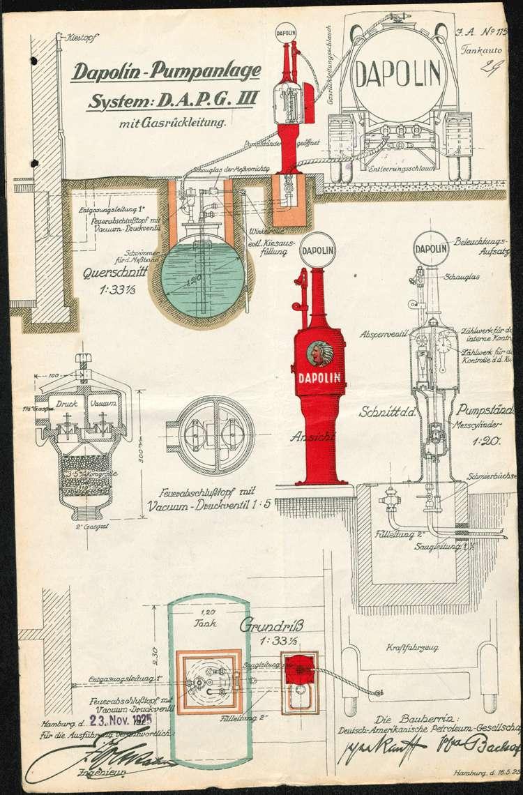 Bau und Unterhaltung der Dapolin-Pumpanlage der Firma Weber und Rost in Mietersheim, Bild 2