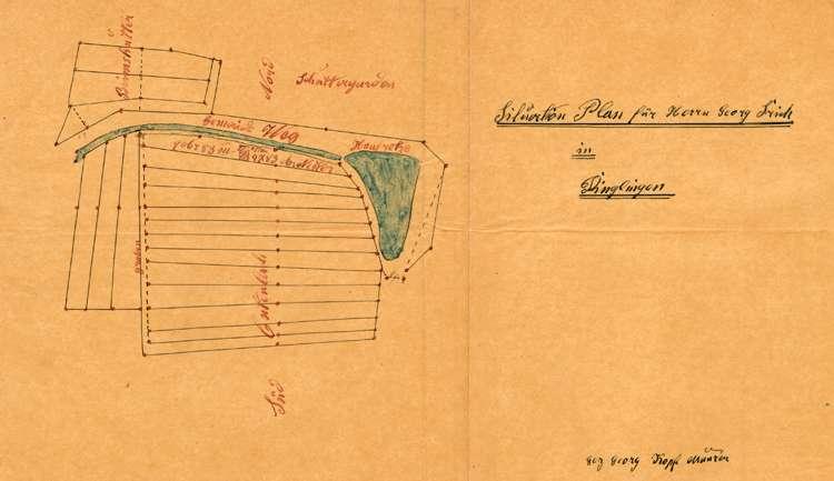 Gesuch des Zieglers Georg Frick in Dinglingen um Genehmigung zur Errichtung und zum Betrieb einer Feldbacksteinbrennerei auf dortiger Gemarkung, Bild 1