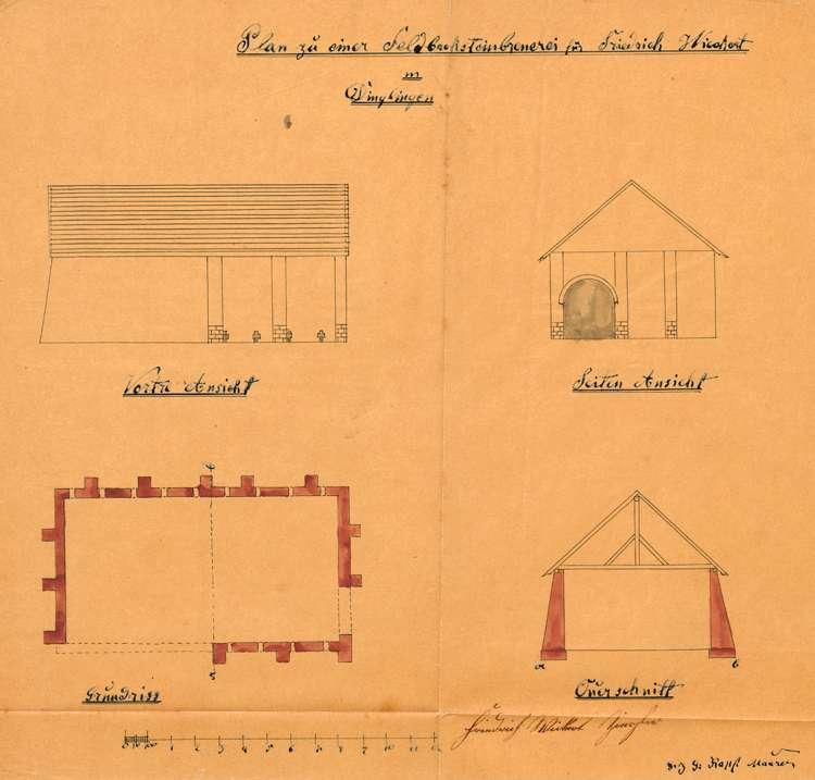 Gesuch des Zieglers Friedrich Wickert in Dinglingen um Genehmigung zur Errichtung und zum Betrieb einer Feldbacksteinbrennerei auf dortiger Gemarkung, Bild 2