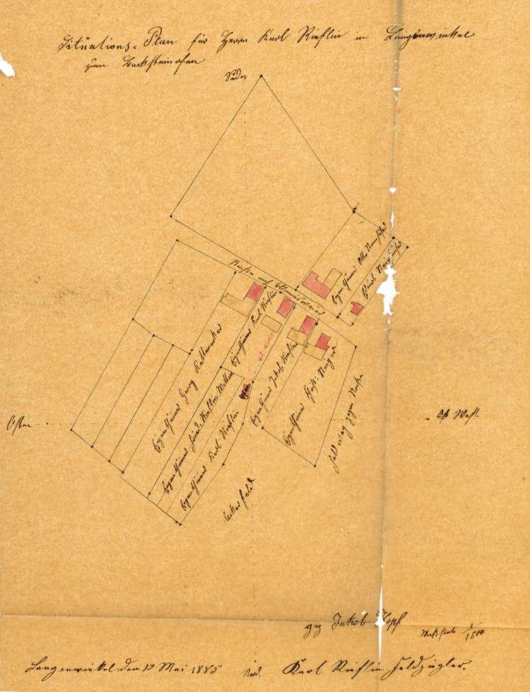 Gesuch des Karl Rieflin in Langenwinkel um Genehmigung zum Betrieb einer Feldbacksteinbrennerei, Bild 1