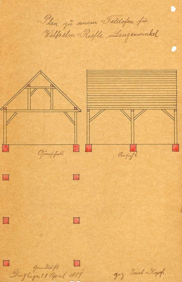 Gesuch des Zieglers Wilhelm Rieflin in Langenwinkel um Genehmigung zur Errichtung und zum Betrieb einer Feldbacksteinbrennerei, Bild 2