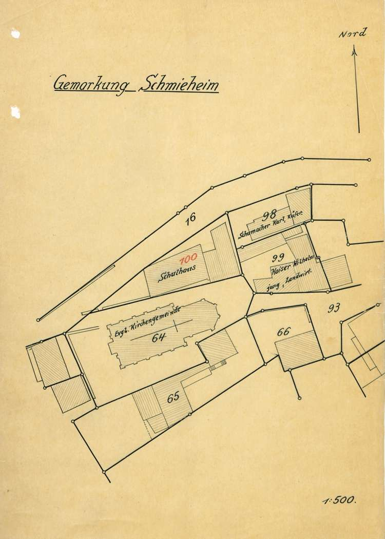 Bauliche Unterhaltung des evangelischen und des israelitischen Schulhauses in Schmieheim sowie Anschaffung von Schulrequisiten, Bild 3