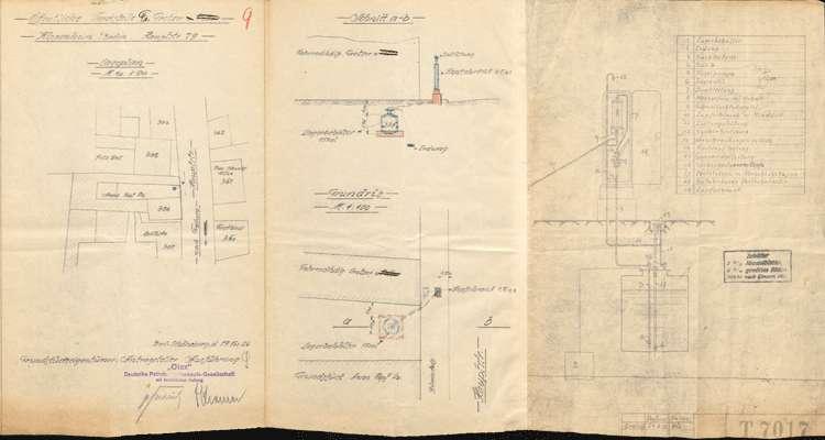 Bau, Erweiterung und Instandhaltung der Benzintankanlage des Friedrich Grotzer in Kippenheim, später im Besitz der Witwe A. Kopf ebendort, Bild 1