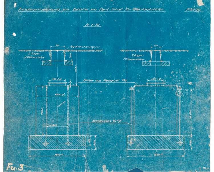 Bau, Erweiterung und Instandhaltung der Benzintankanlage des Friedrich Grotzer in Kippenheim, später im Besitz der Witwe A. Kopf ebendort, Bild 2