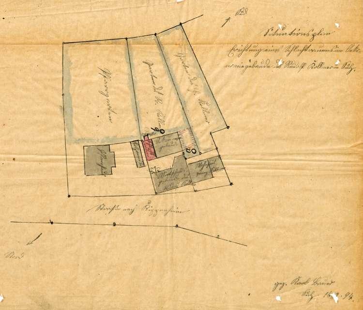 Errichtung einer Schlachterei durch Wilhelm Kollmer in Sulz, Bild 1