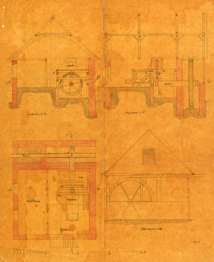 Erbauung einer Mahlmühle auf dem Hofgut des Bürgermeisters Augustin Kopf in Schönberg, Bild 1