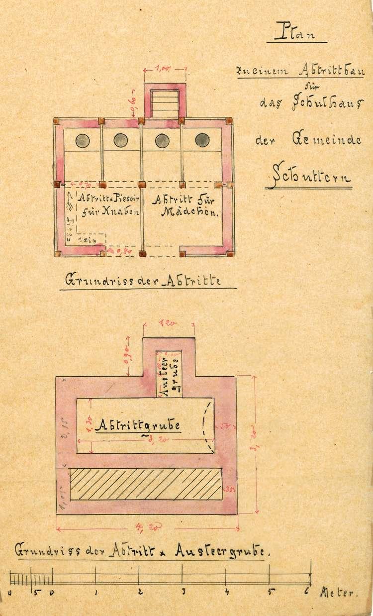 Bauliche Unterhaltung und Neubau des Schulhauses in Schuttern, Bild 1