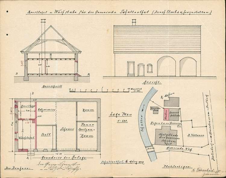 Neubau des Ortsarrestlokals der Gemeinde Schuttertal, Bild 1