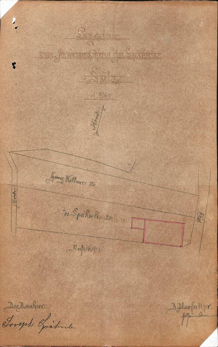 Errichtung und Betrieb der Zigarrenfabrik des Josef Spähnle in Sulz, Bild 1