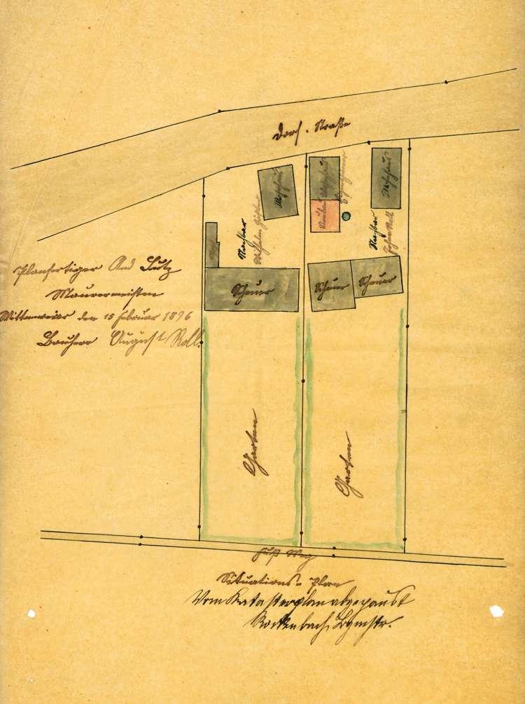 Gesuch des August Roll in Wittenweier um Genehmigung zur Errichtung eines Schlachthauses; Prüfung der Metzgerei Roll ebendort, Bild 1
