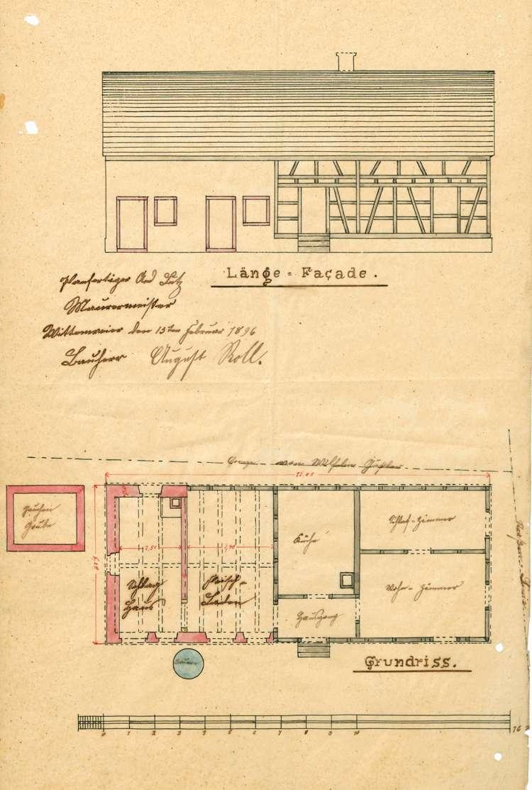 Gesuch des August Roll in Wittenweier um Genehmigung zur Errichtung eines Schlachthauses; Prüfung der Metzgerei Roll ebendort, Bild 2