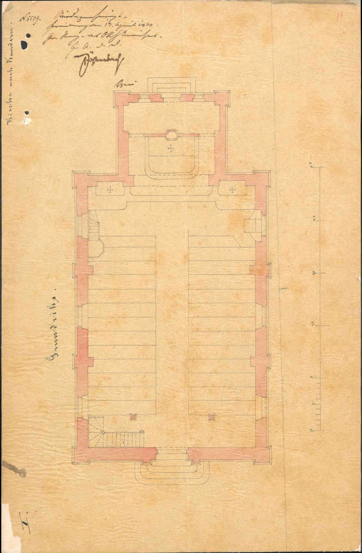Erbauung einer katholischen Kirche zu Kandern, Bild 1