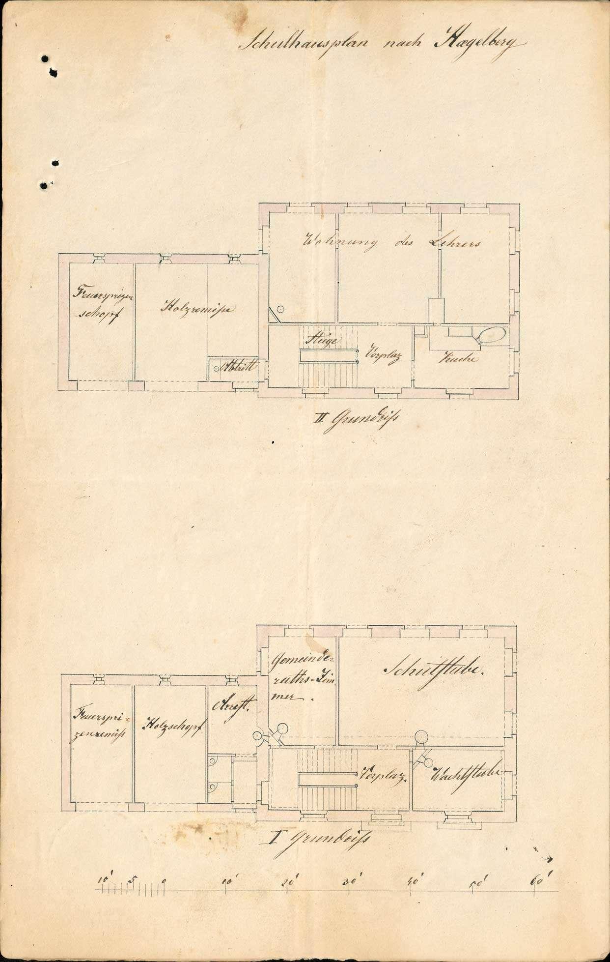 Erbauung und Unterhaltung des Schul- und Gemeindehauses zu Hägelberg, Bild 2