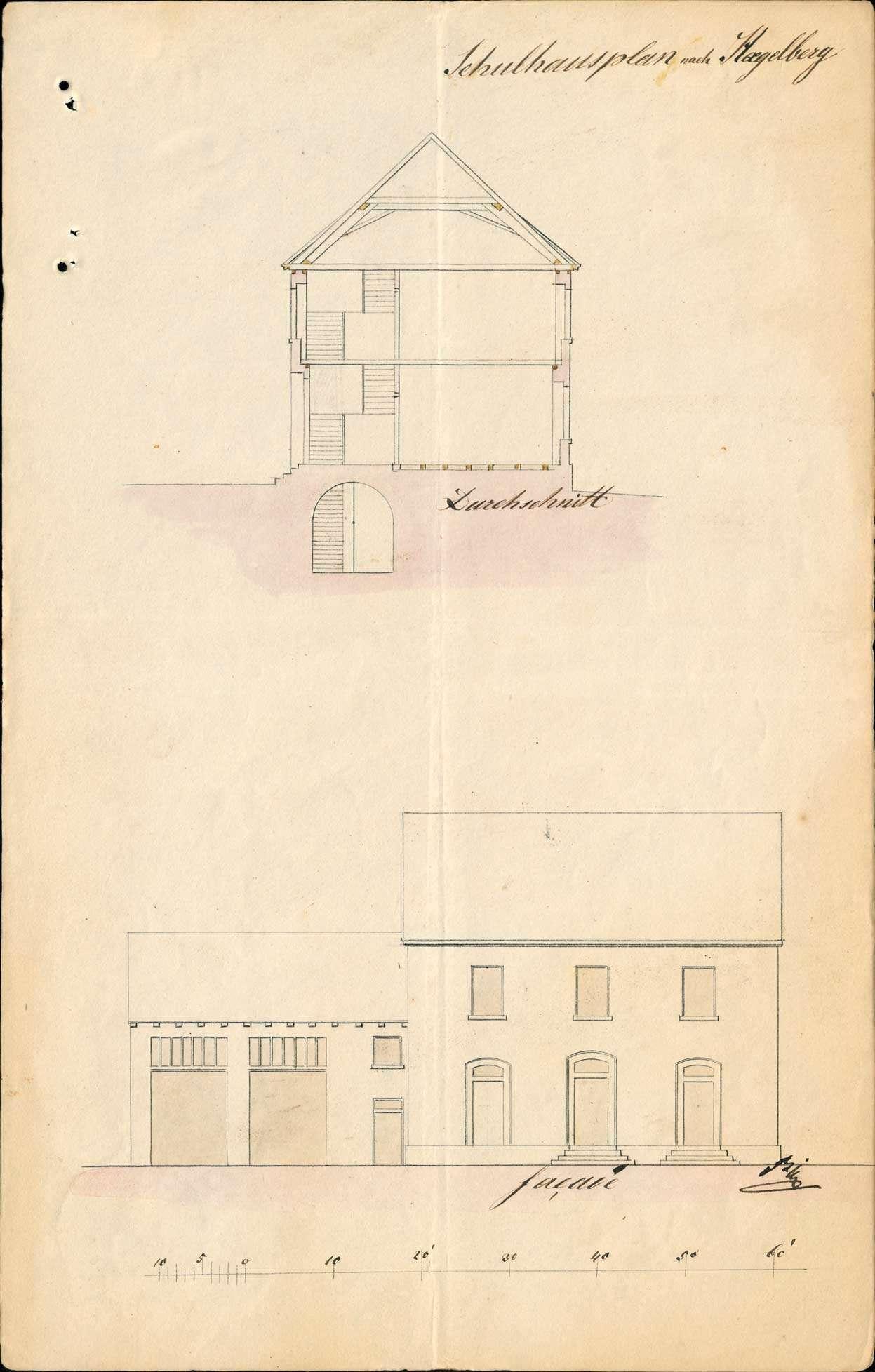 Erbauung und Unterhaltung des Schul- und Gemeindehauses zu Hägelberg, Bild 3