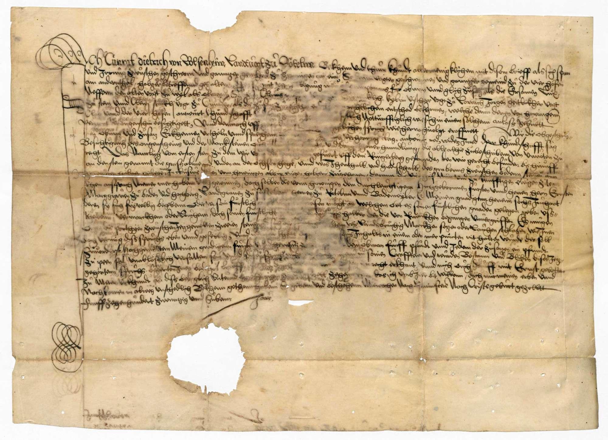 Schriftverkehr und Liste über Urkunden und Dokumente der Gemeinde Hauingen, Bild 1