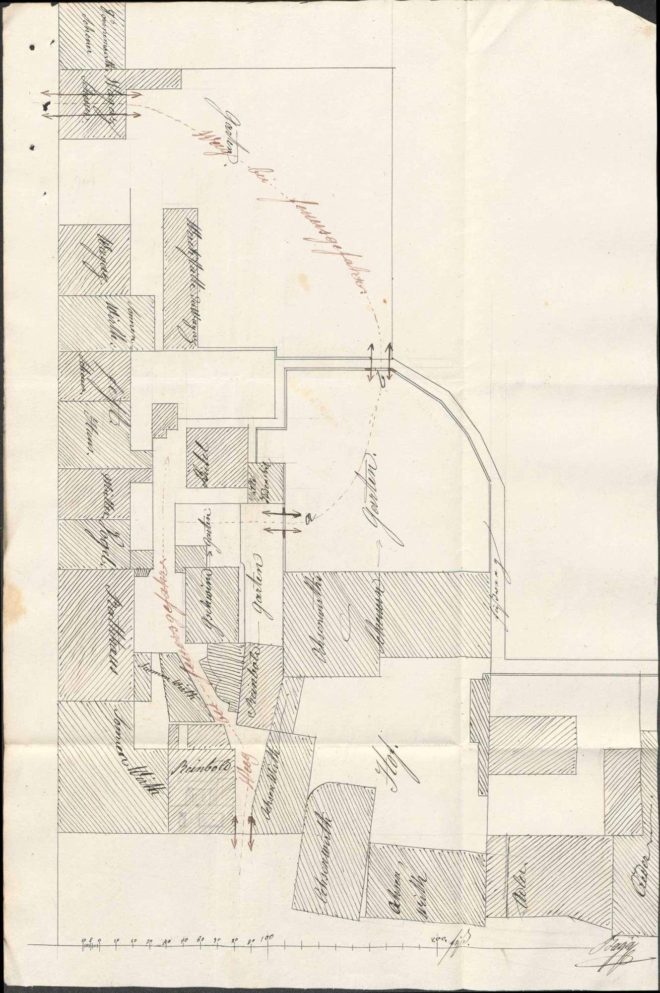 Erweiterung der Feuerlöschzugänge zu den Rückgebäuden mehrerer Anwesen in Lörrach, Bild 2