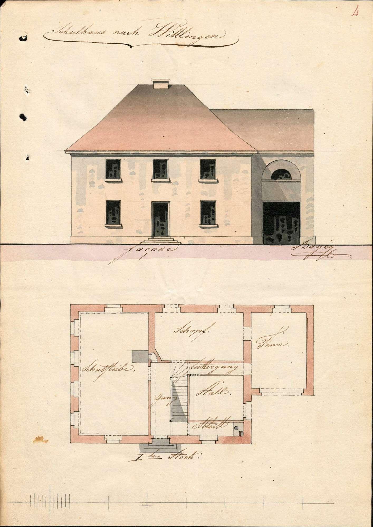 Erbauung eines neuen Schulhauses in Wittlingen und dessen Unterhaltung, Bild 1