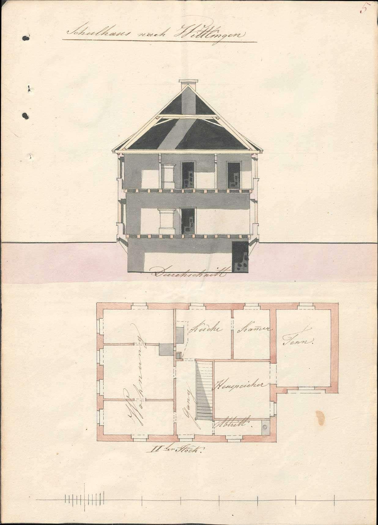 Erbauung eines neuen Schulhauses in Wittlingen und dessen Unterhaltung, Bild 2