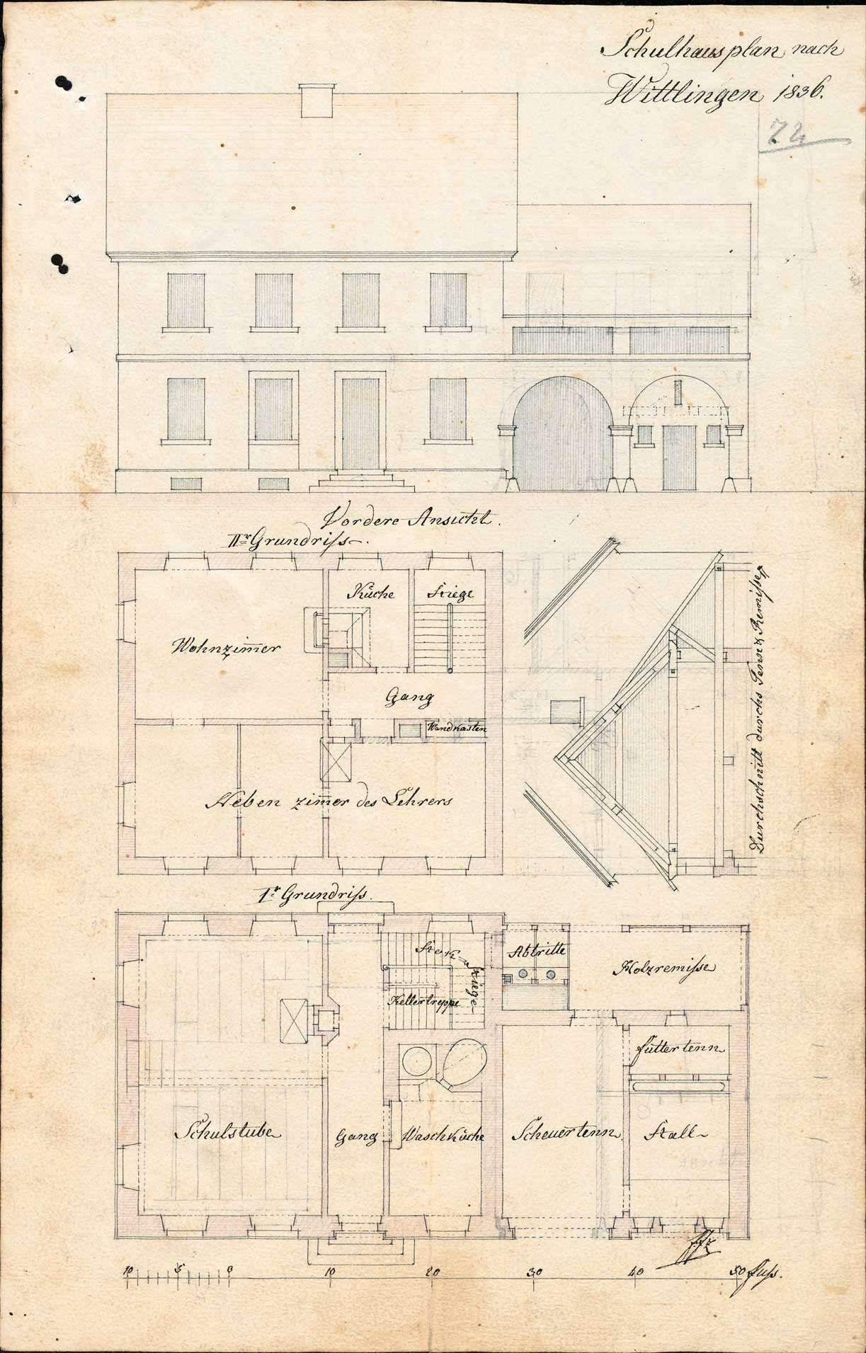 Erbauung eines neuen Schulhauses in Wittlingen und dessen Unterhaltung, Bild 3