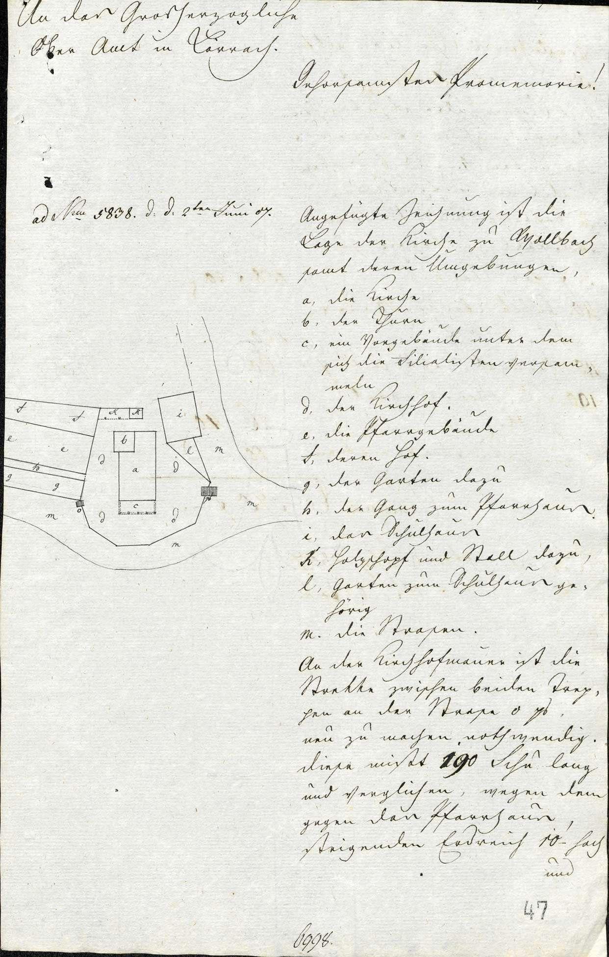 Erbauung und Unterhaltung der Pfarrkirche samt Kirchturm und Kirchhofmauer zu Wollbach, Bild 3