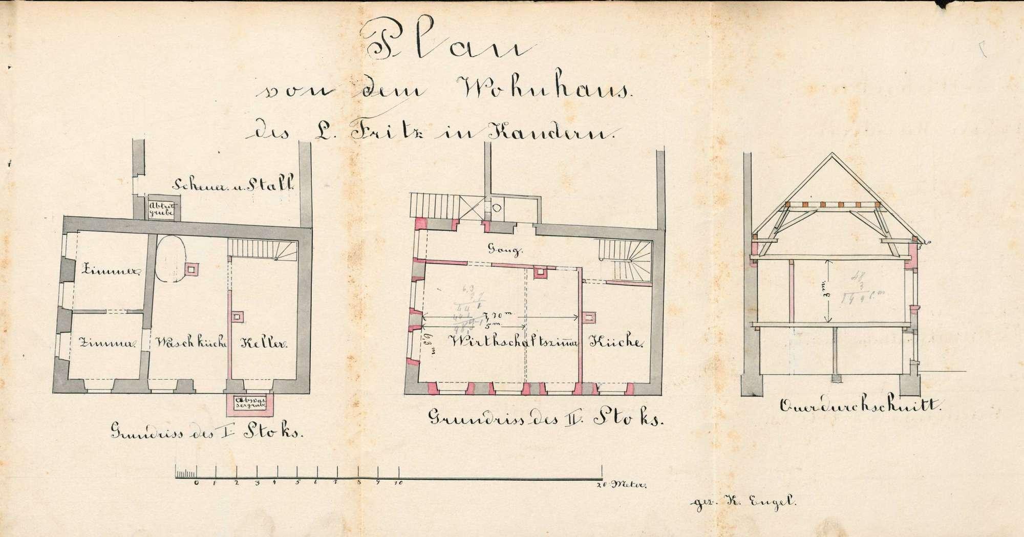 Gesuch des Lorenz Fritz um Erlaubnis zum Betrieb einer Schankwirtschaft, Bild 1
