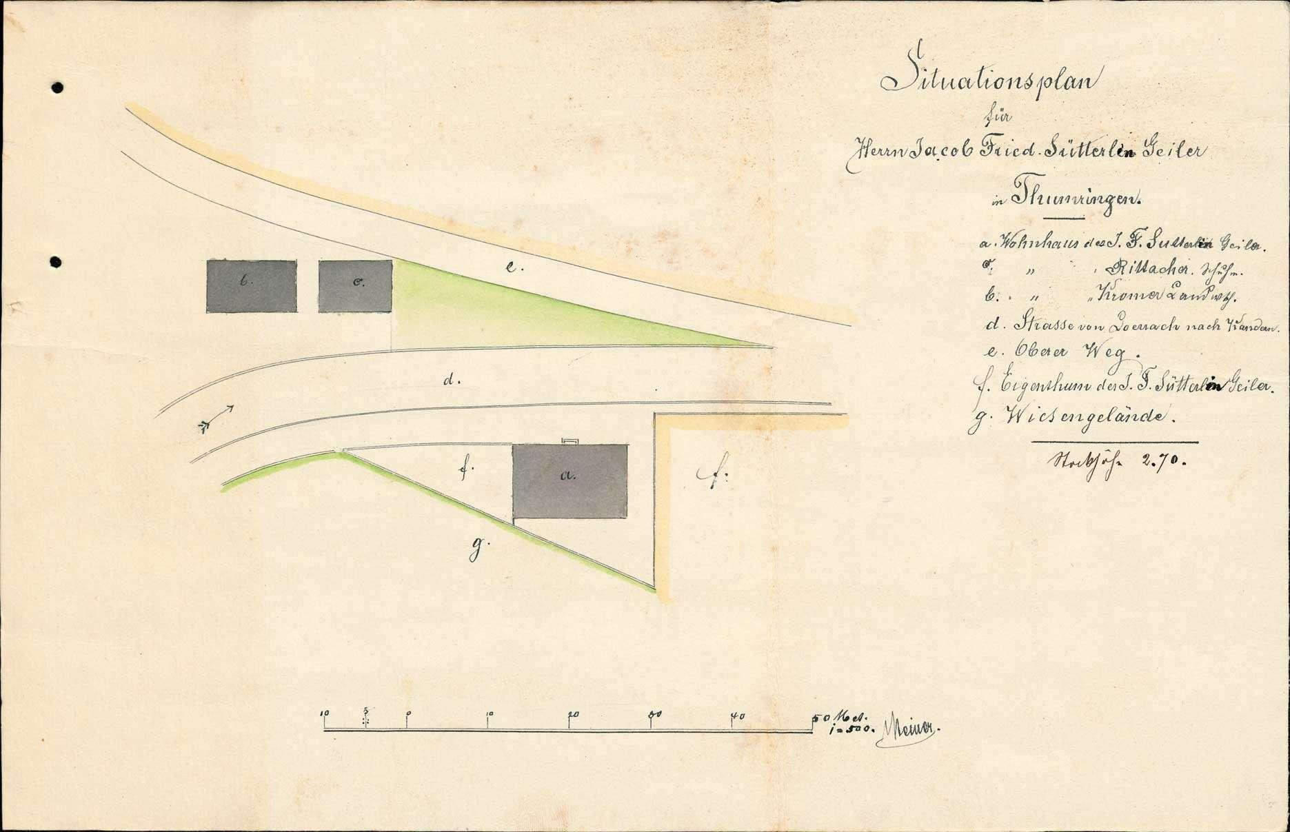 Errichtung einer Schankwirtschaft in Tumringen durch Johann Friedrich Sütterlin, Bild 1