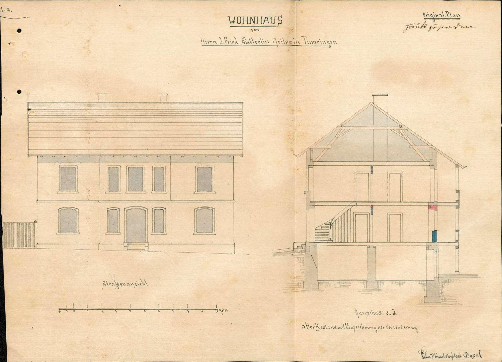 Errichtung einer Schankwirtschaft in Tumringen durch Johann Friedrich Sütterlin, Bild 2