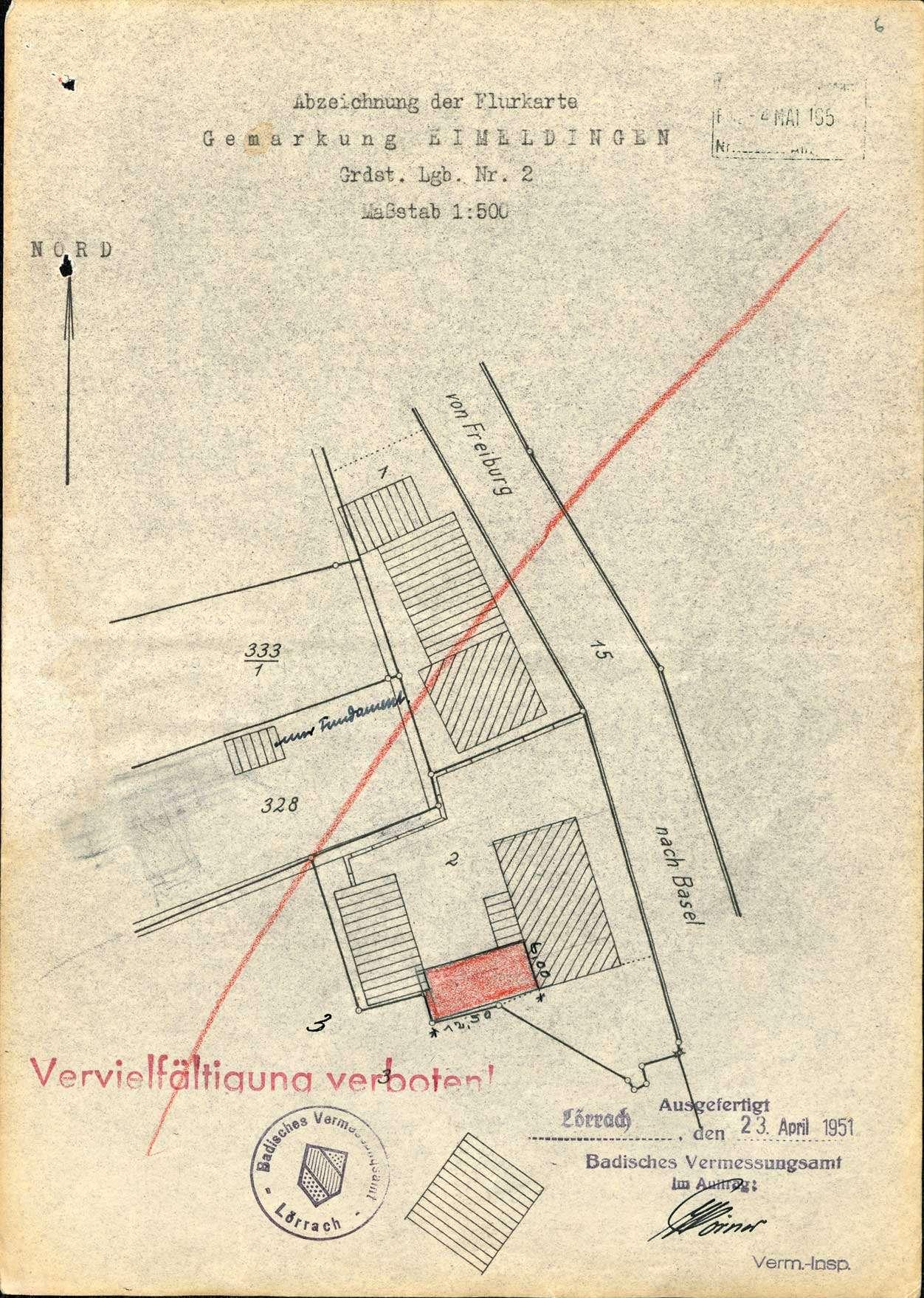 Erstellung eines Schulhauses mit Pissoiranlage in der Gemeinde Eimeldingen, Bild 1