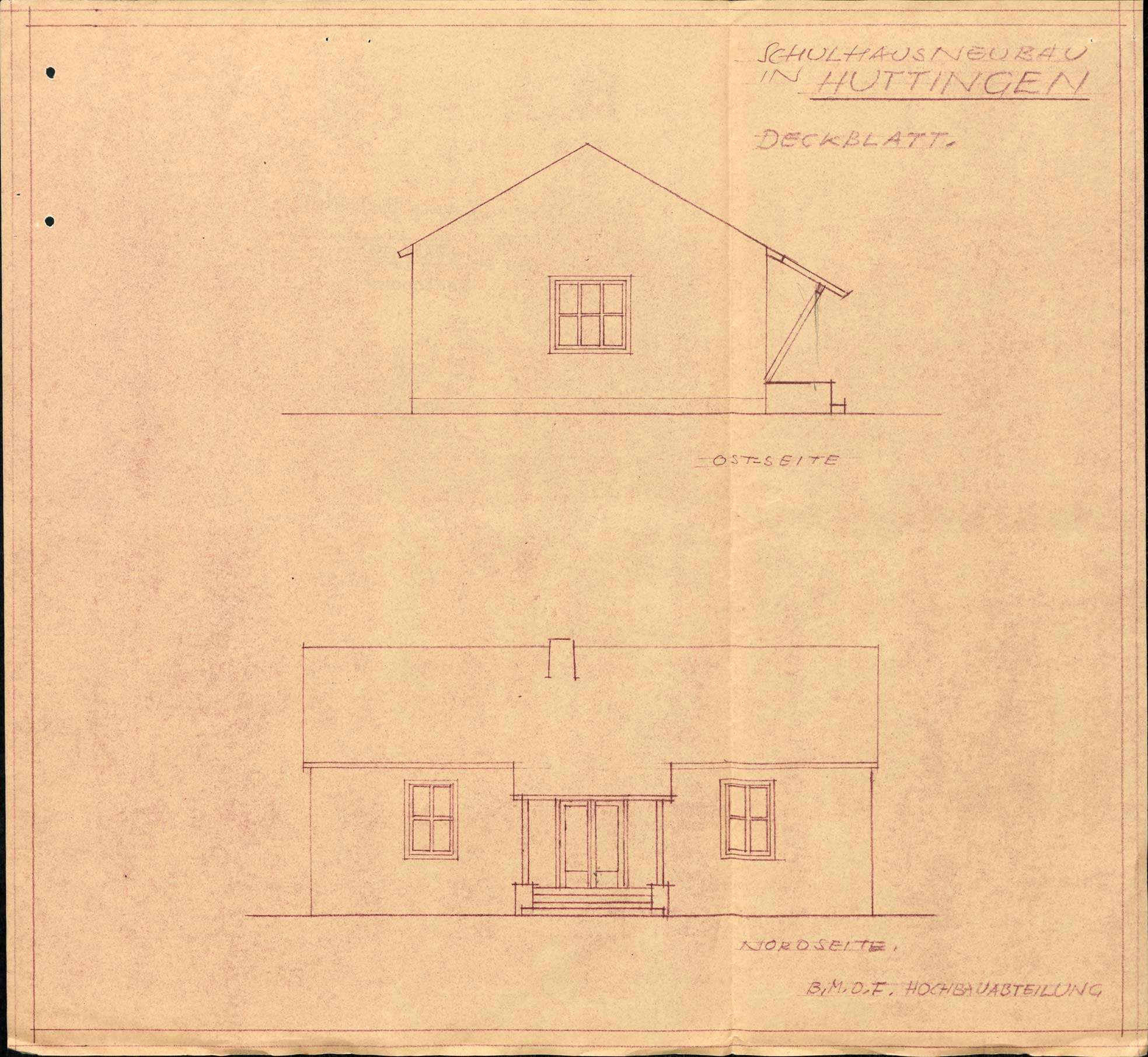 Baugesuch der Gemeinde Huttingen zur Erstellung eines Schulhauses, Bild 3