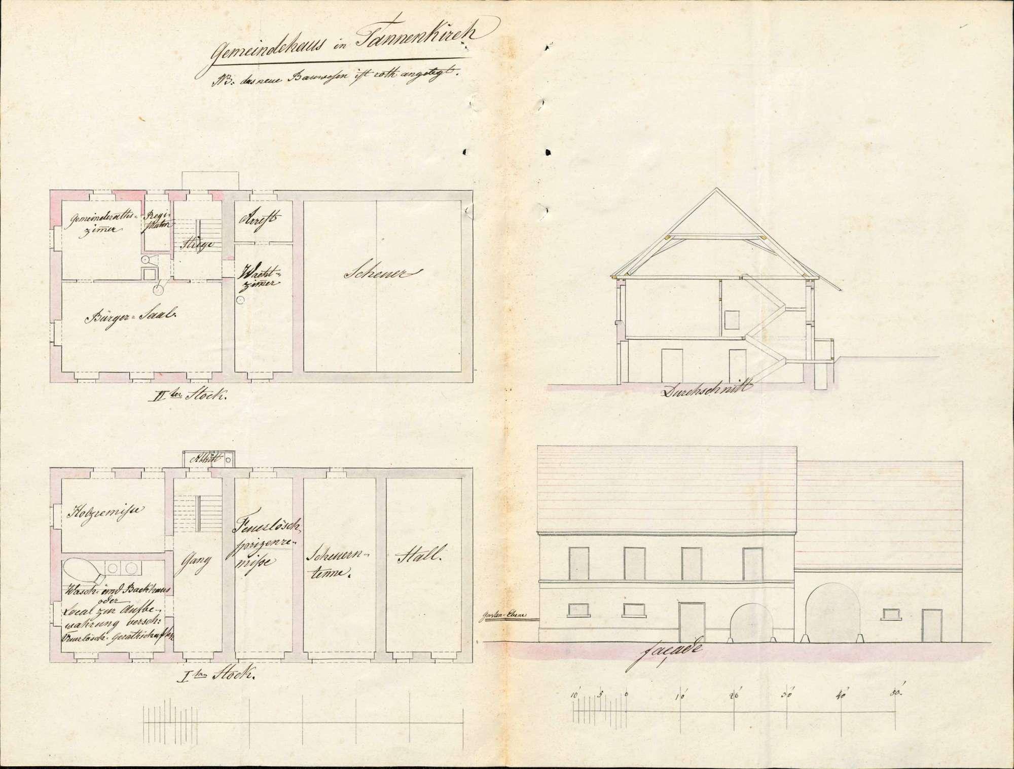 Erbauung eines Gemeinde- und Schulhauses in der Gemeinde Tannenkirch, Bild 2
