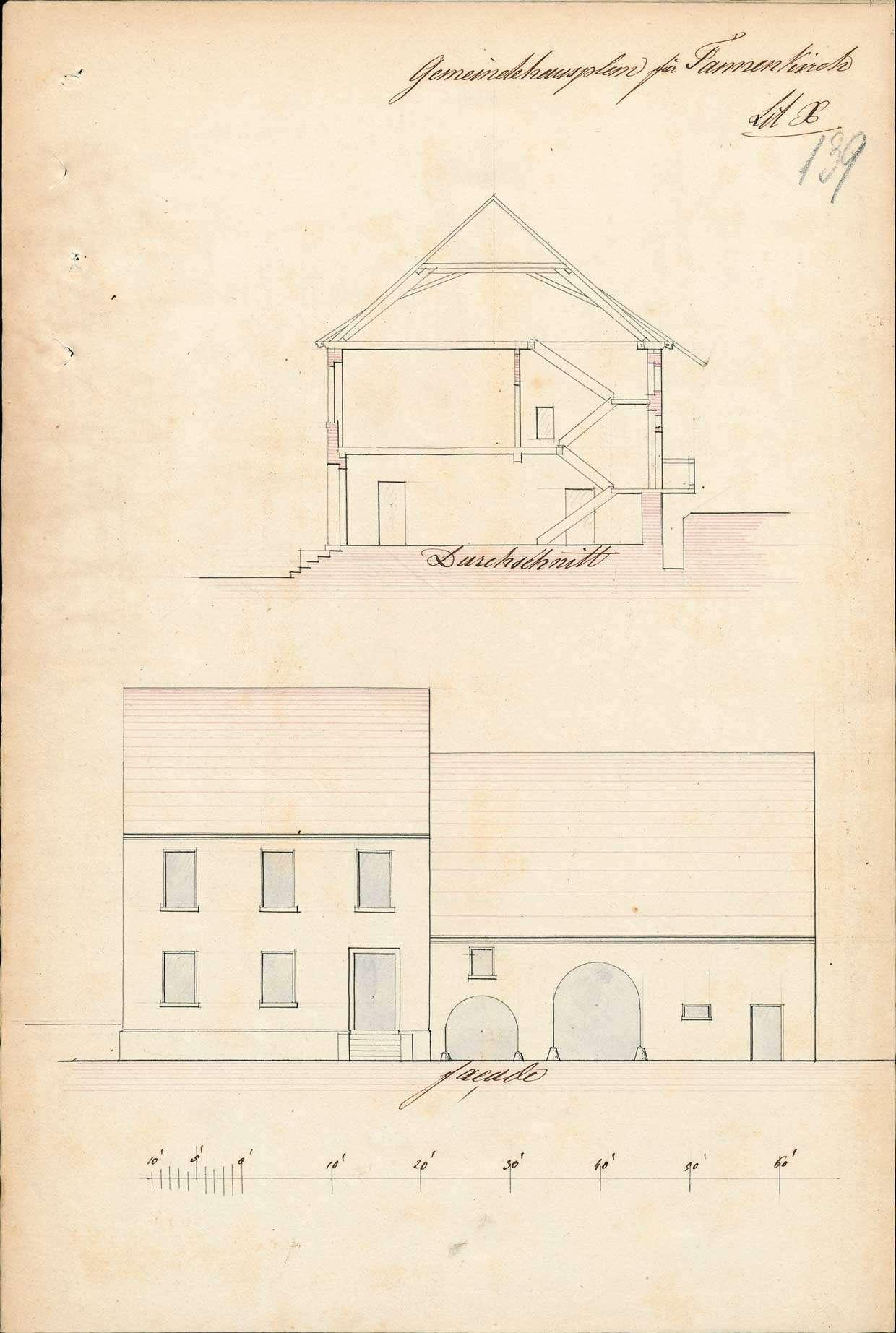 Erbauung eines Gemeinde- und Schulhauses in der Gemeinde Tannenkirch, Bild 3
