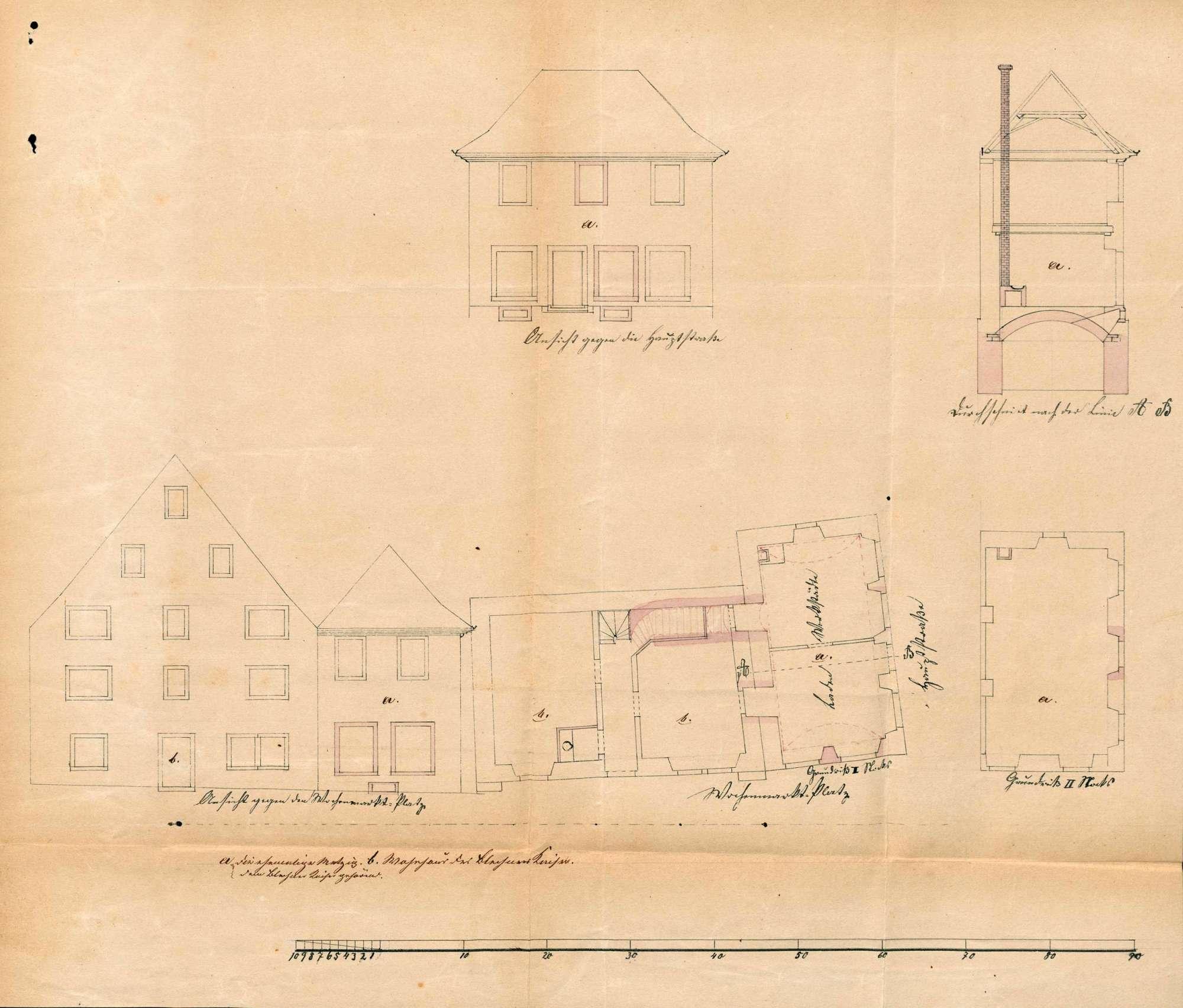 Verkauf der städtischen Metzig; Herstellung eines Wachlokals, Arrestlokals und Spritzenhauses, Bild 3