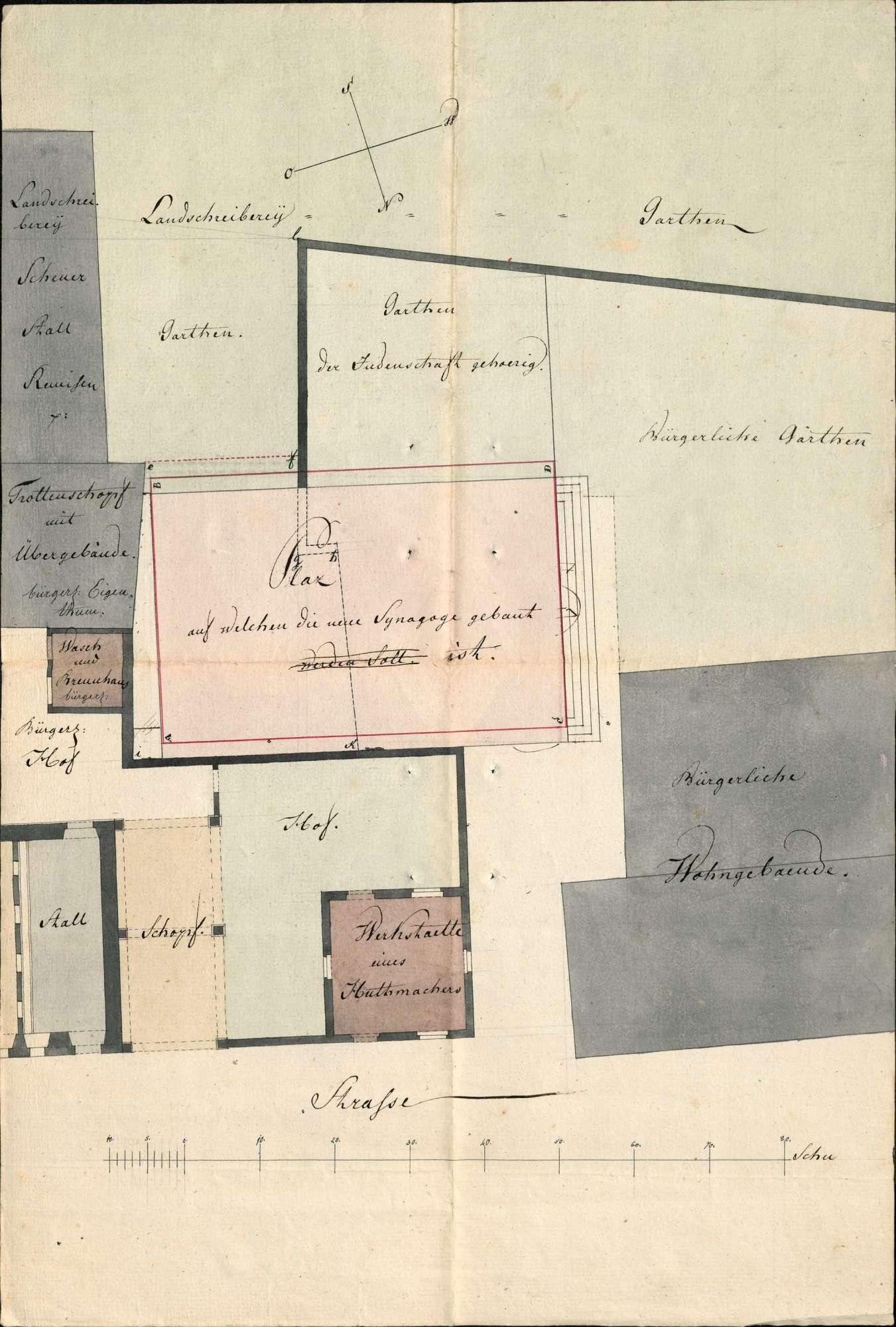 Erbauung einer Synagoge in Lörrach, Bild 1