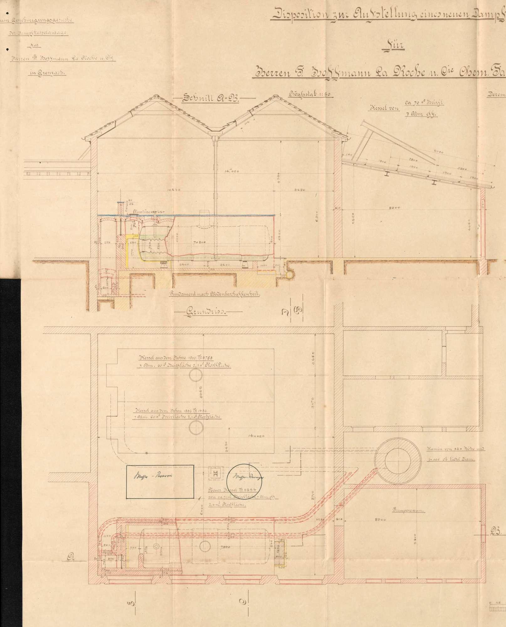 Gesuch der Fa. Hoffmann-La Roche in Grenzach um Erlaubnis zur Anlegung eines Dampfkessels, Bild 2