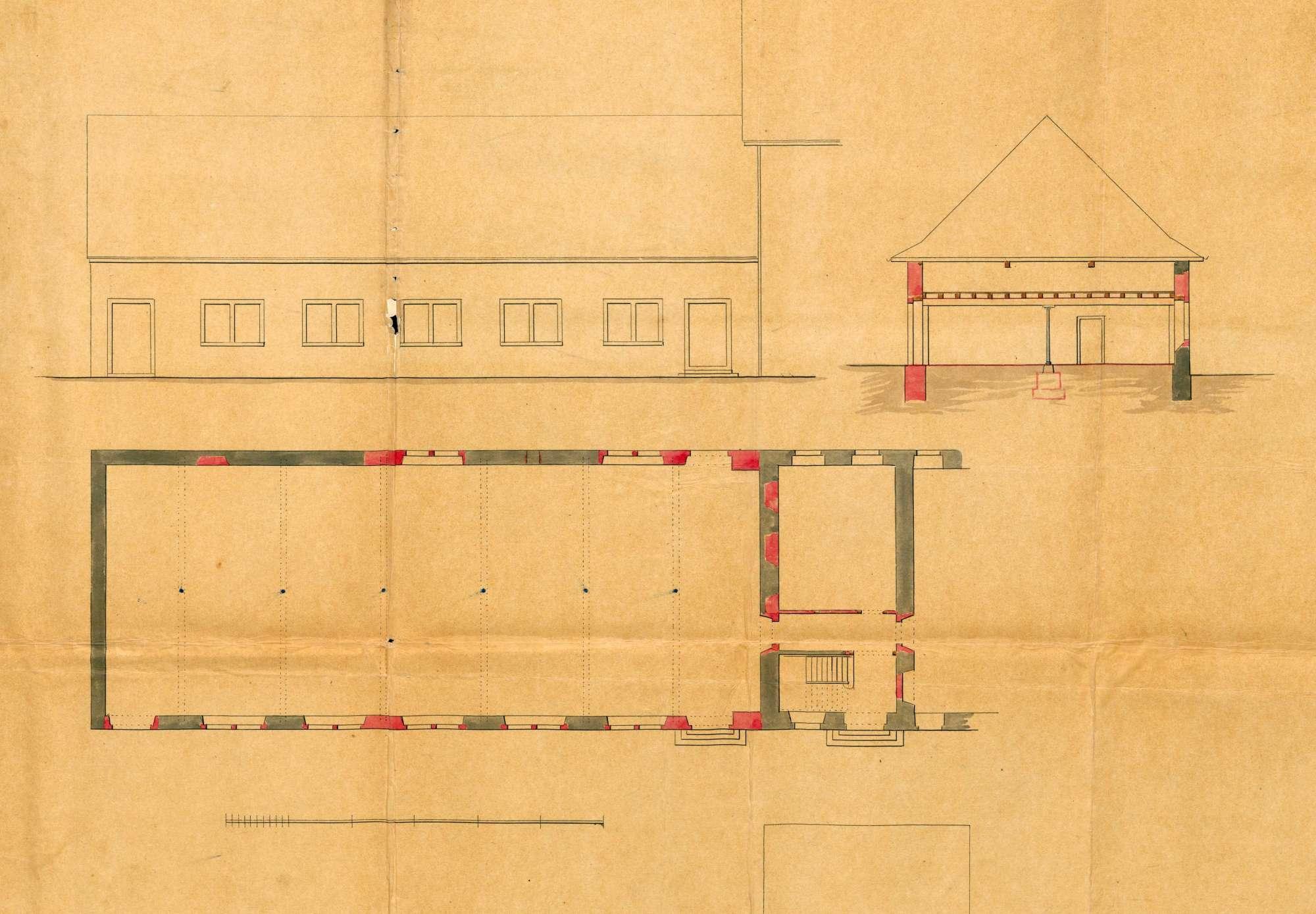 Erwerb von Liegenschaften durch Louis Merian von Basel zur Errichtung einer Maschinenfabrik in Höllstein; Um- und Erweiterungsbauten an der Fabrik, Bild 1