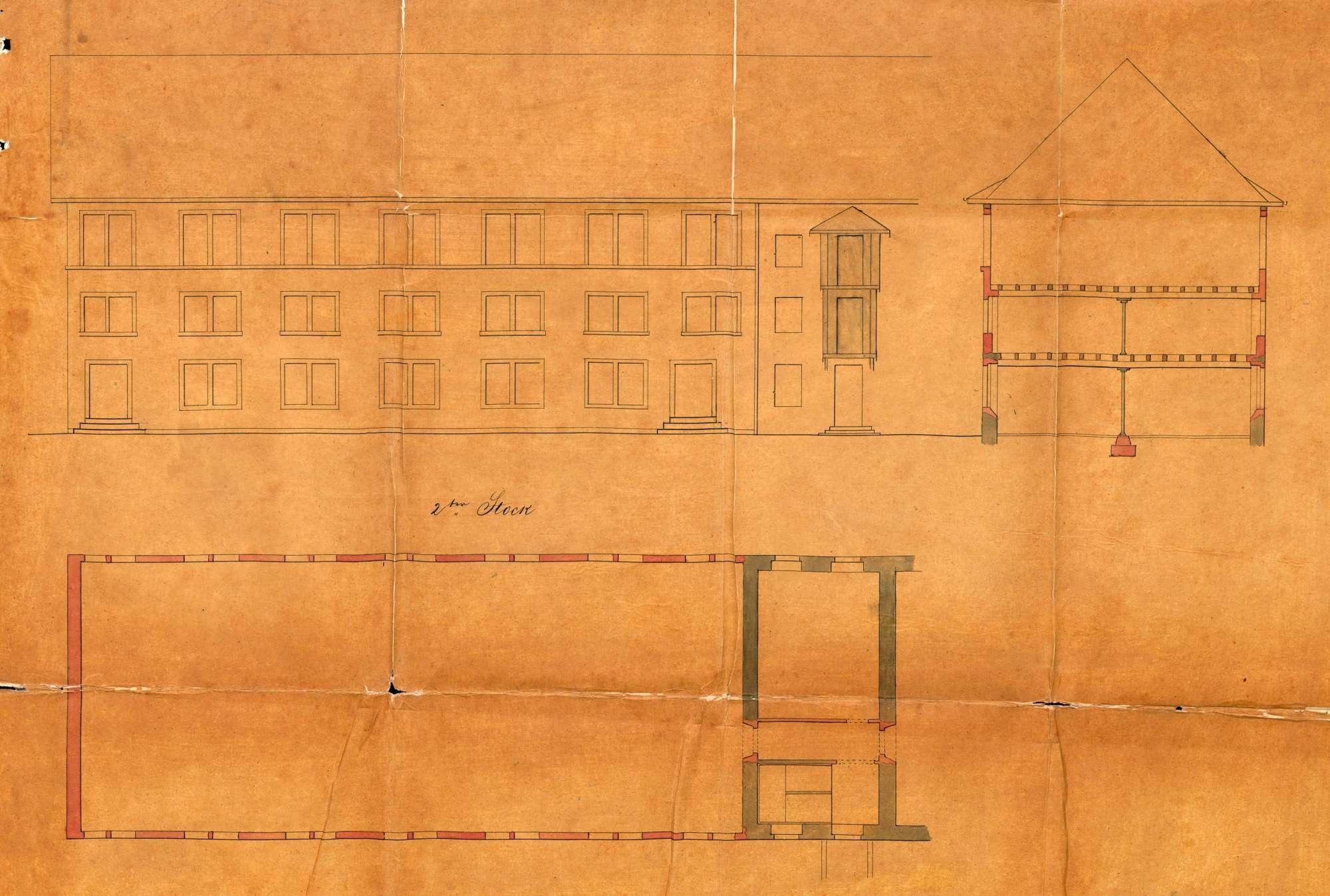 Erwerb von Liegenschaften durch Louis Merian von Basel zur Errichtung einer Maschinenfabrik in Höllstein; Um- und Erweiterungsbauten an der Fabrik, Bild 3