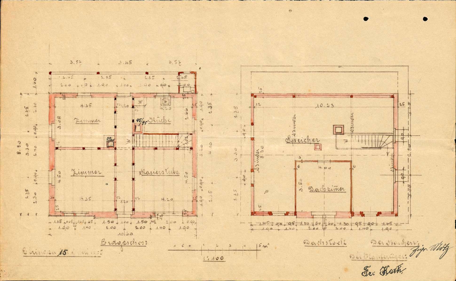 Antrag des Ciprian Motz auf Genehmigung zum Bau eines Wohnhauses in Efringen, Bild 3